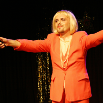Affirmative Therapy: Milan Duric, at Transfabulous festival of the arts, London 2009. Photo AbsoluteQueer photography